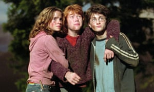 From left, Emma Watson, Rupert Grint and Daniel Radcliffe in Harry Potter And The Prisoner Of Azkaban.