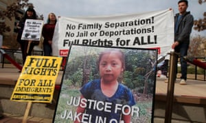 Protesters in El Paso, Texas, call for justice over the death of Jakelin Caal Maquin in US custody, December 2018