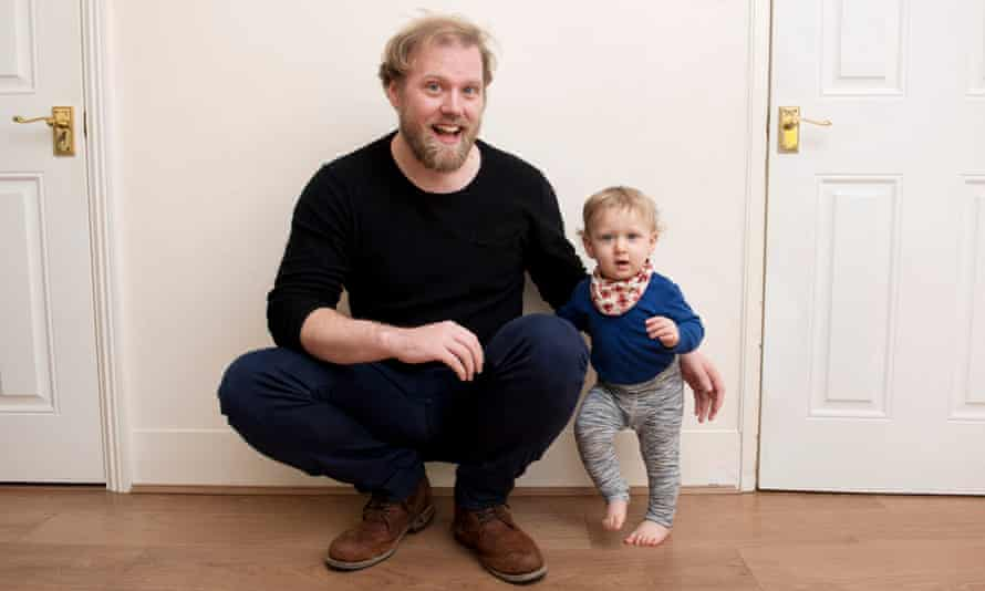 Stuart Heritage with his son Herbie