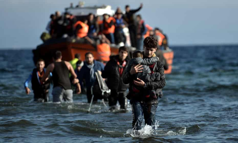 Migrants in Lesbos