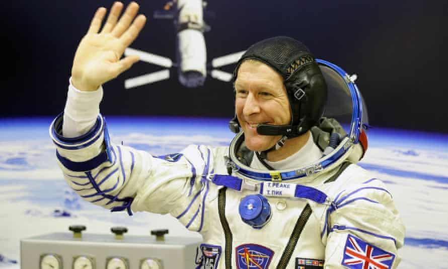Tim Peake in spacesuit