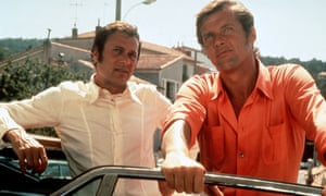 Roger Moore as the dapper Lord Brett Sinclair, with Tony Curtis as the ruffian Danny Wilde in The Persuaders!