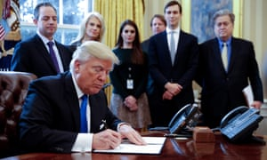 Donald Trump signed an executive order reviving the pipeline project in January.