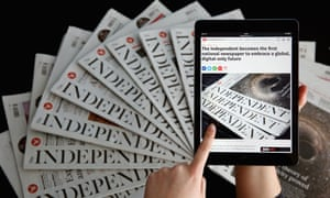 The Independent newspaper will publish its last print edition on Saturday 26 March 2016 to focus solely on digital