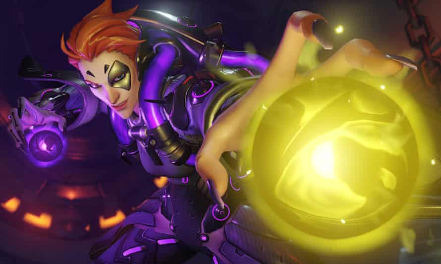 Moira, one of the characters form Jeff Kaplan's online team game Overwatch.