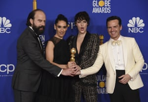From left, Brett Gelman, Sian Clifford, Phoebe Waller-Bridge and Andrew Scott, from the cast of Fleabag, which won best TV comedy