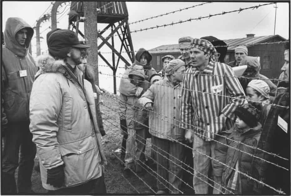 Steven Spielberg on the set of Schindler's List in 1993.
