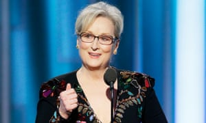 In her speech on Sunday, Meryl Streep said: 'If we kick [foreigners] out, you'll have nothing to watch but football and mixed martial arts – which is not the arts.'