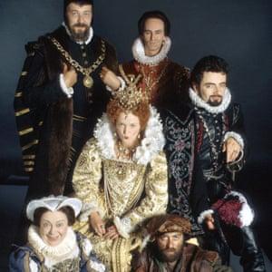 McInnerney (back, right) as Lord Percy in Blackadder II