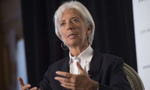 The IMF's managing director, Christine Lagarde, in Washington on Wednesday.