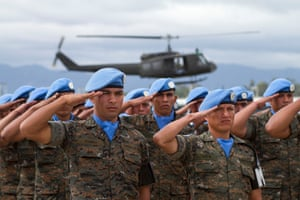 Soldiers of the United Nations Stabilisation Mission in Haiti, 2013.