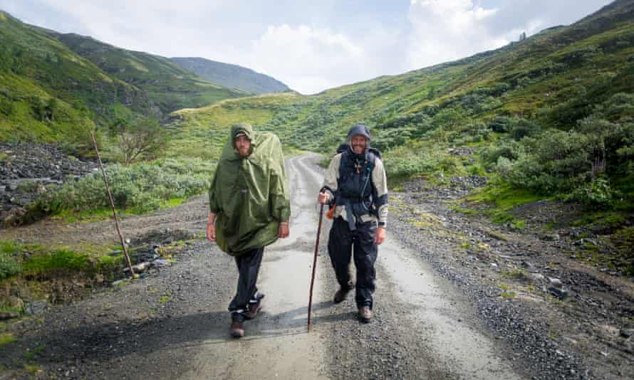 Pilgrims on the St.Olav Way crossing the Dovre mountain