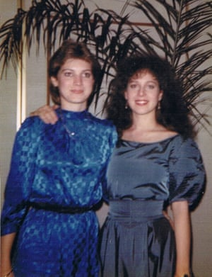 Anita Cobby, right, with her younger sister Kathryn Szyszka