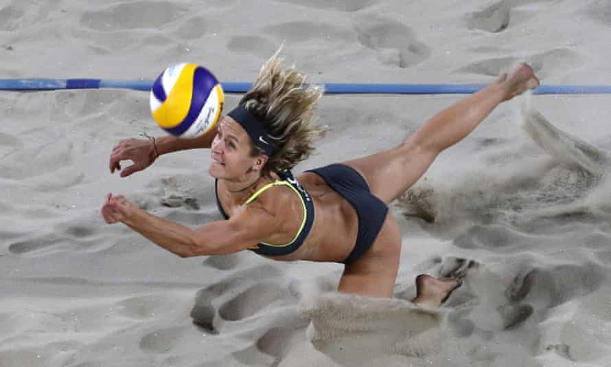 Germany's Laura Ludwig in action during the 2016 Olympics