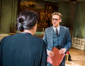Martin Hutson, right, as the curator with Penelope Wilton in The Bay at Nice.