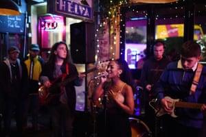 Lisa Lo sings in the Western bar in Brighton