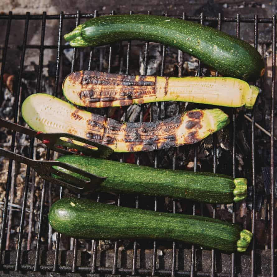 Honey & Co: Chasing Smoke. Grilled courgette.