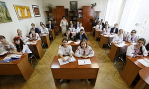 Final year students at the Ukrainian Humanities Lyceum