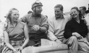 Rolt (second right) and Duncan Hamilton with their wives following their victory at Le Mans in 1953