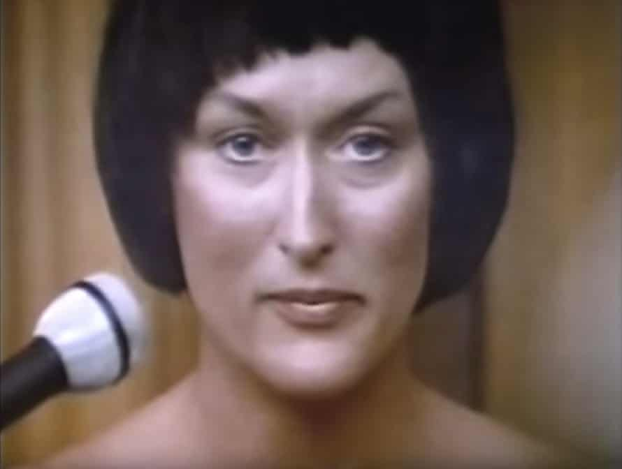 Meryl Streep as Lindy Chamberlain in Evil Angels/A Cry in the Dark (1988).