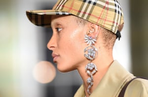 Adwoa Aboah in the spring/summer 2018 Burberry show at London Fashion Week