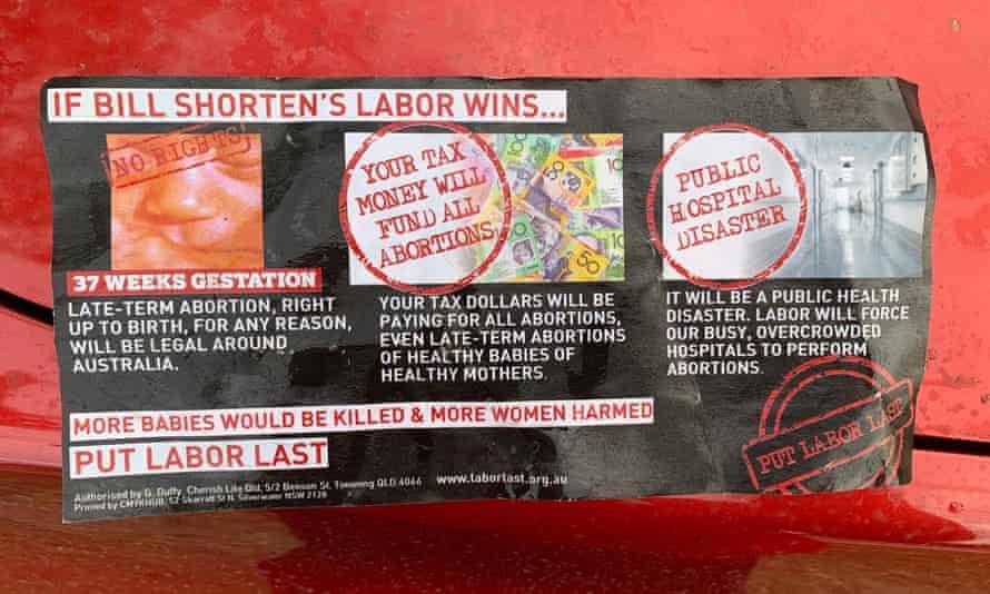 Another Cherish Life anti-abortion flyer.