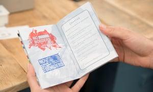 Icebreaker … Lucy and Jorge Orta's Antarctica passport.
