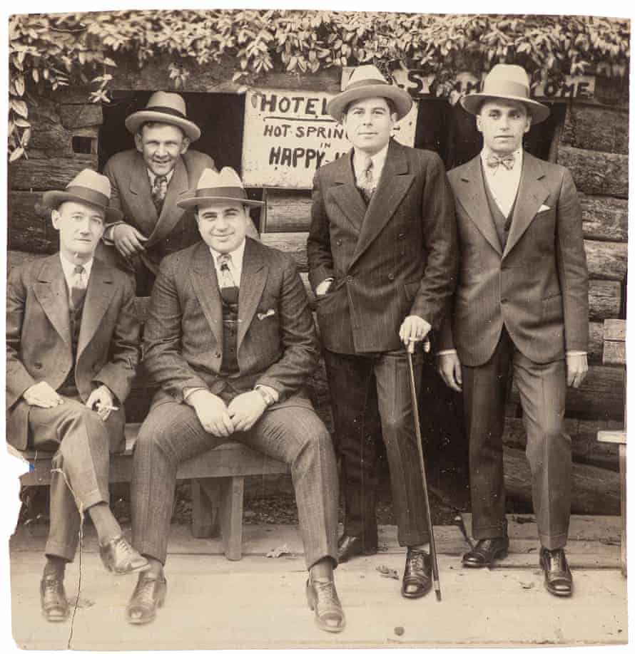 A vintage silver print of Capone and associates at Hot Springs, Arkansas. Starting price $1,250.