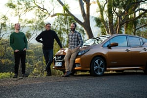 Anthony Broese van Groenou, Anton Vistrom and Sam Whitehead. Co founders of the Good Car Company, an electric car company based in Hobart, Tasmania