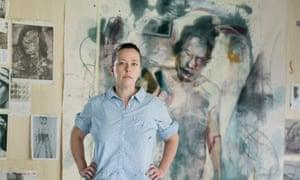 Jenny Saville in her Oxford studio.