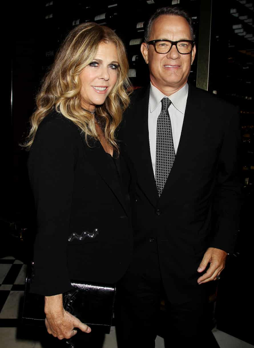 Tom Hanks with his wife, Rita Wilson, at the 2017 Tribeca film festival.