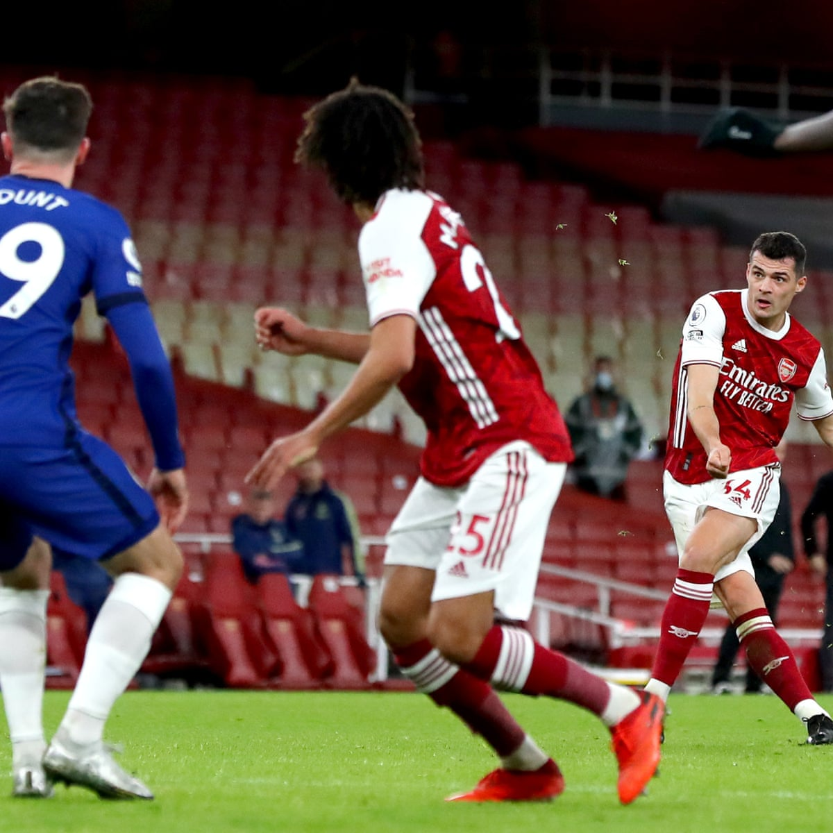 Granit Xhaka Strikes A Telling Blow But It Is The Age Of Saka Arsenal Must Embrace Barney Ronay Football The Guardian