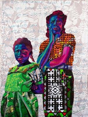 Dear Mama by textile artist Bisa Butler.