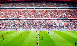 A variable planed lens is used for this shot of Bayern's game against Hoffenheim, where the visitors came out 2-1 victors.