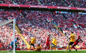 Mane of Liverpool scores the opener.