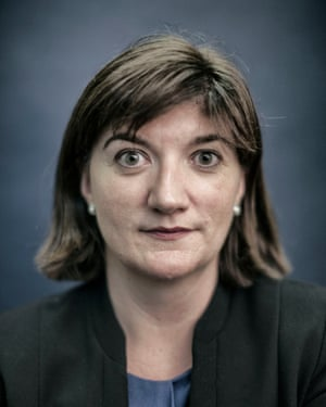 Conservative MP Nicky Morgan photographed in her office in Westminster