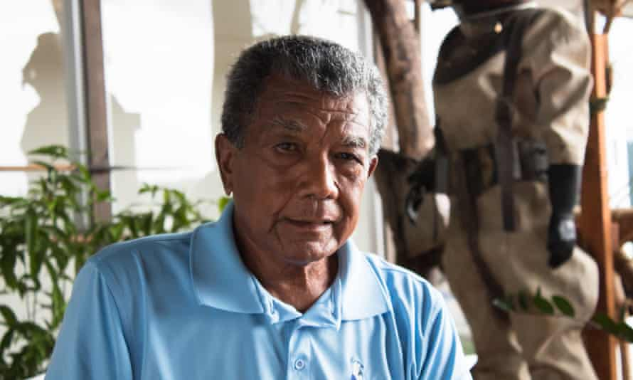 Francis Toribiong, who has worked in tourism in Palau for 50 years