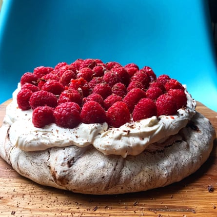 Nigella Lawson pavlova: ' embrace decadence and shave some chocolate on top' as she suggests.