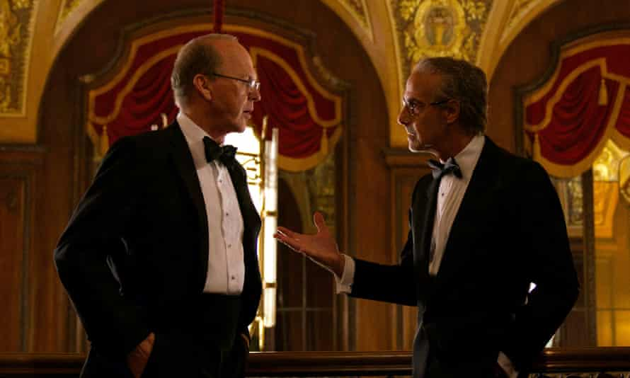 Michael Keaton and Stanley Tucci in Worth