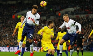 Dele Alli rises to put Tottenham ahead against Chelsea and set his side on course for an impressive win.