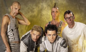 Rammstein, seen here in 2001 with the colours of Borussia Dortmund, although that could possibly be a complete coincidence.