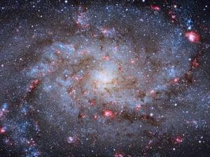A multicoloured swirl of stars.