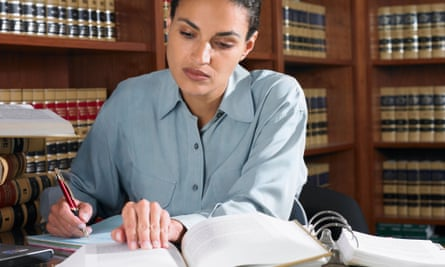 A lawyer working
