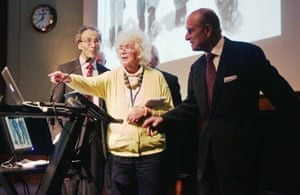 Jan Morris with the Duke of Edinburgh in 2013 during a reception to celebrate the 60th anniversary of Hillary's ascent of Everest