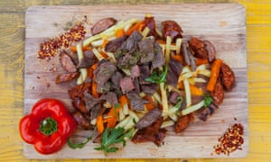 'Would be even better without the board': mixed grill.