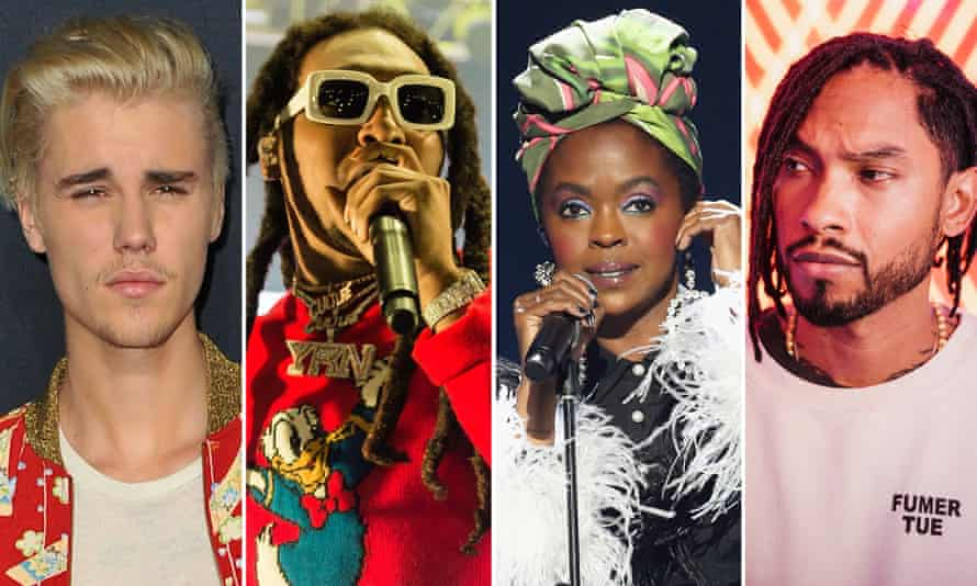 Justin Bieber, Takeoff of Migos, Lauryn Hill and Miguel, who have all been clients of Biz3.