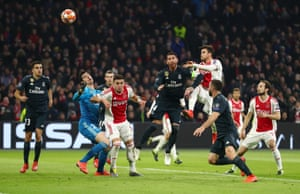 df52f64edba Tagliafico of Ajax scores his team s first goal but it is later rulled out  by the