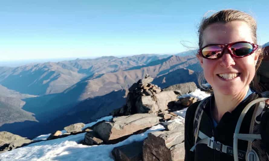 A selfie of Esther Dingley in the Pyrenees on 21 November.
