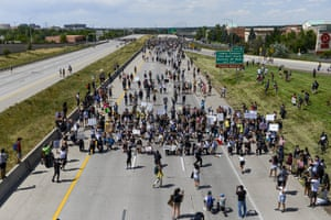 People shut down I-225 in both directions as they demand justice for Elijah McClain in Aurora, Colorado, US