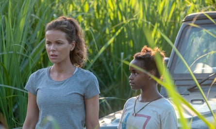 Kate Beckinsale and Shalom Nyandiko in The Widow.